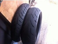 120/70/17 and 190/50/17 bike tyres used