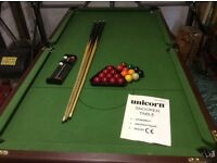 Pool / snooker table 6ft / 3ft good condition
