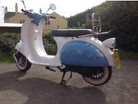 AJS Modena 125 4 stroke scooter registered in 2014