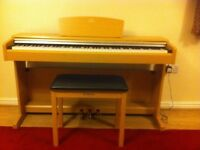 Yamaha arius 141 YPD digital piano and matching stool . Full 88 weighted hammer action keys