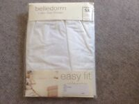 Super king size valance brand new never been opened white cotton by belle dorm £10