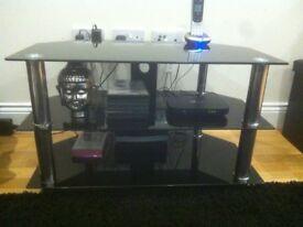 Black Tempered GlassTV Stand £20