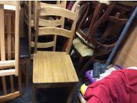 Set of 6 wooden dining chairs