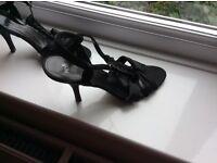 Smart black evening sandals