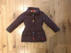 Designer girls coats age 3 years. Joules and dodipetto.