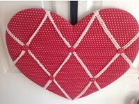 Red Heart Memo Board/Office Equiptment/Stationary/Pin Board