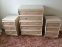 Chest of Drawers with matching bedside units