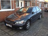 Lexus IS200, reliable motor despite age. MOT till December, bodywork pretty good