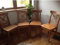 Four Pine Ikea kitchen table chairs