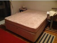 King size divan bed with drawers and mattress