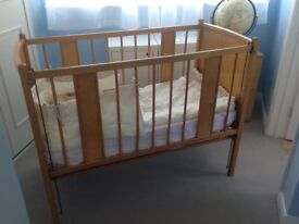 Traditional Wooden Drop Side Cot