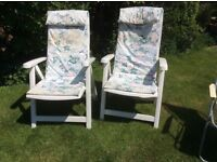 Vintage garden chairs suitable for old fashioned tea party