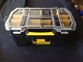 Stanley 48cm toolbox with inbuilt compartments