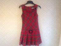 Pinafore dress make Red Herring