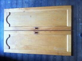 Set of 10 Reclaimed Solid Oak Kitchen Pantry Cupboard Cabinet Doors / Can Deliver