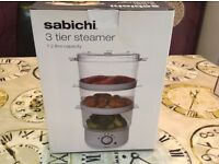 Brand new 7.2 ltr 3 tier food steamer