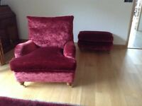 2 DURESTA CHAIRS and a run-up FOOTSTOOL