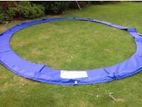 14' Trampoline safety spring cover padding and safety net