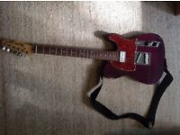 Electric guitar, amplifier and case for sale