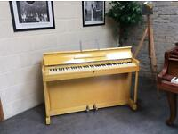 Kemble minx, London Miniature yellow upright overstrung piano - DELIVERY AVAILABLE