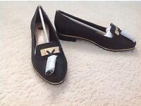 River island-Black metallic tassel loafers