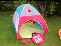 Toddler tent / ball pit and caterpillar crawling tunnel - good condition with bags and instructions.