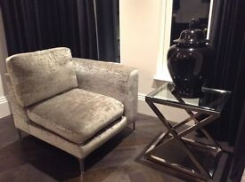 GORGEOUS AND LUXURIOUS Andrew Martin Camerich Velvet Chair – purchased for £950.00