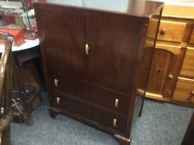 Vintage oak cupboard with drawers