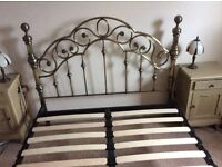 Sturdy and strong double bed frame, £100 - was bought for £350 - like new