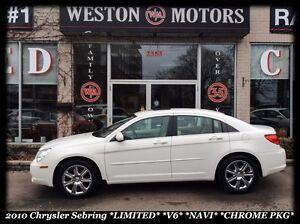 2010 Chrysler Sebring *LIMITED *V6 *LEATHER *SUNROOF *NAVI *CHRO