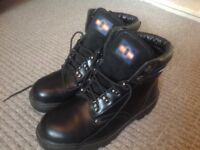 Men's pro-man steel toe capped boots size 8