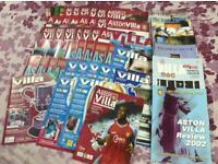 55 Aston Villa programmes