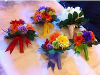 Wedding bouquets, Table flowers, Favours and other pieces