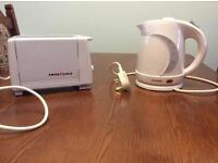 Low voltage kettle and toaster