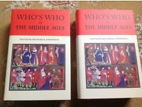 TWO BOOK SET. NEW. WHO'S WHO IN THE MIDDLE AGES