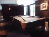 9ft American, Slate bed Pool Table.