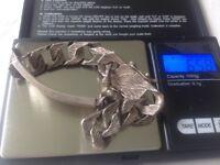Sterling silver hallmarked Vintage 1970's ID bracelet & signet ring