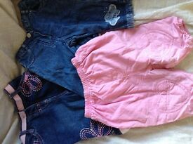3 pairs of winter jeans for baby girl 3-6 months