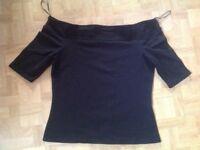 River Island black t shirt. Size 12. Used vgc.