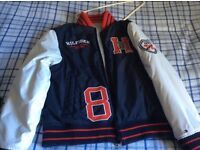 Boys Tommy Hilfiger reversible collage jacket age 11/12 years