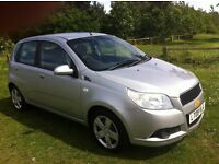 A STUNNING LOW MILEAGE 2009 CHEVROLET AVEO 1.2 LS, LOW INSURANCE , 11 MONTHS MOT AND EXCELENT MPG.