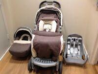 Mothercare Quattro Tour Delux travel system pushchair