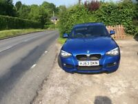 BMW F20 116d M Sport 5dr 6 speed manual diesel sport hatch in Estoril metallic blue.