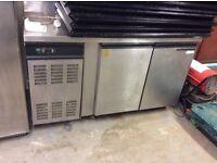 2x door gastronome refrigerated prep fridge