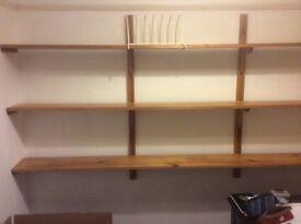 Wall mounted shelves: 2 sets