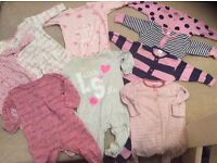 Next Baby girl sleepsuits 3-6 month