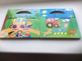 Children's sliding board books
