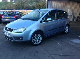 Very low miles Ford Focus c max zetec 62,000 miles from new 1.6 petrol