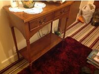 Small narrow table with shelf under