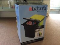 NEW! 2 Double Brabantia Built-in Bin and Recycling Rubbish Kitchen Bins, 10 litre each